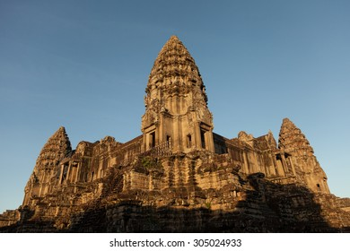 Early morning  at the famous temple of Angkor Wat near Siem Reap in Cambodia