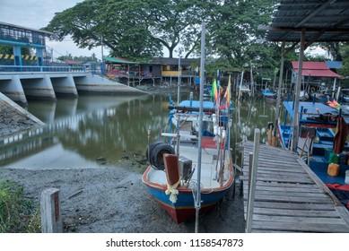 early morning at fishing village