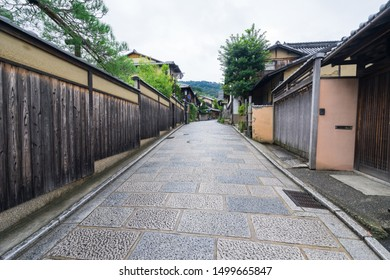 Early morning at Gion District, Kyoto, Japan