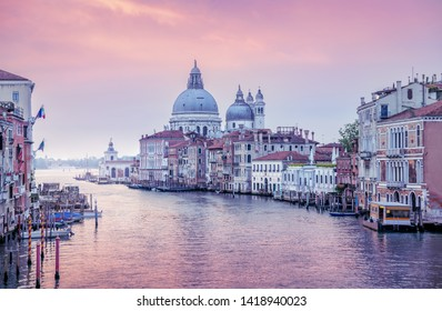 early morning at grand canal in venice