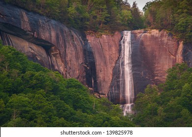 Early morning image of Hickory Nut Falls in the Chimney Rock State Park in North Carolina.