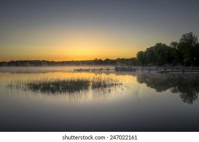 Early Morning Lake Haze