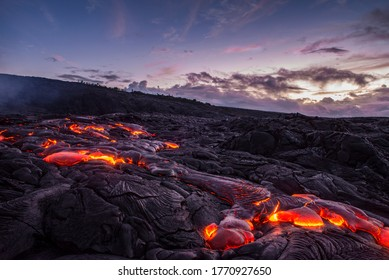 Early morning at the lava