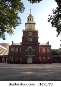 Early Morning Light at Independence Hall National Park in Philadelphia PA.