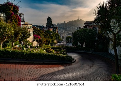 Early morning at Lombard street, San Francisco