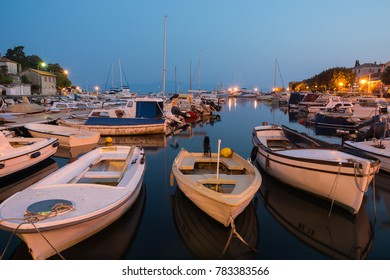 Early morning in the marina. Sea was calm and the boats were perfectly still in Malinska on island Krk in Croatia.