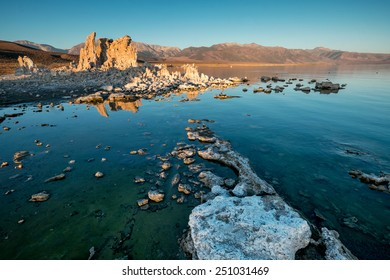 Early morning at Mono Lake and it�¢??t famous tufa formations. California.