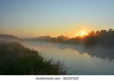 Early morning at the mysterious river