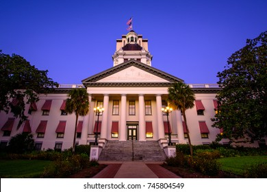 Early morning at the old Capitol of Florida, located in Tallahassee, sitting with the new capitol quietly looming over it.