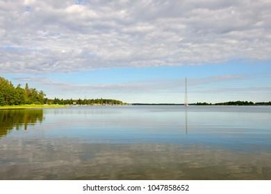 Early morning on Baltic Sea. Calm. Vaasa, Finland