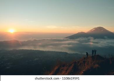 early morning on mt Batur, Bali