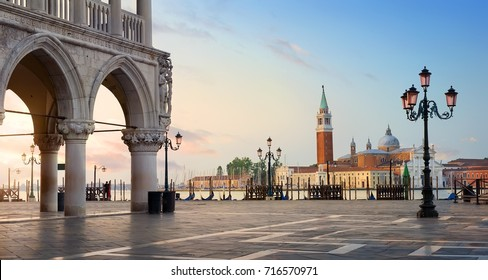 Early morning over San Marco square in Venice, Italy