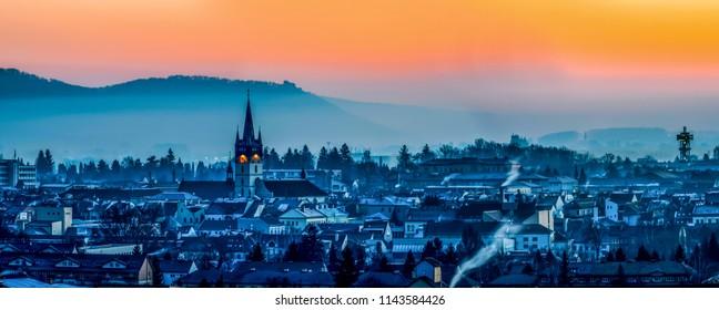 Early morning in Presov, Slovakia