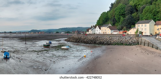 Early morning at the quay on Minehead harbour on the Somerset coast