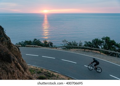 Early Morning Road Cycling along the Coastal Highway