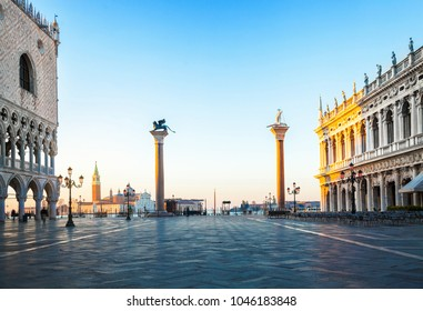 Early morning in San Marco square, Venice, Italy.