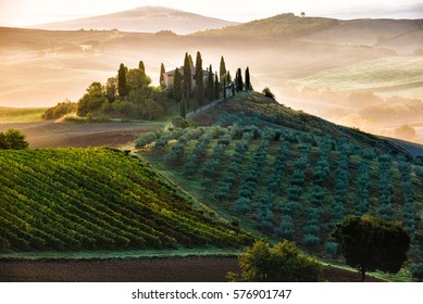 Early morning in San Quirico d´Orcia, Tuscany