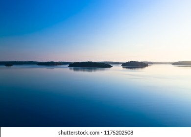 early morning scenery of stockholm archipelago sweden
