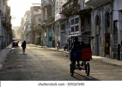 Early morning in the streets of Old Havana