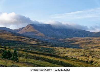 Early Morning Sun on Coire an Lochain and Cairn Lochan (1215M)Fiacaill Coire an t-Sneachda (left ridge) Cairngorm Mountains, Scotland