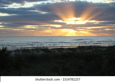 Early Morning Sunrise in New Smyrna Beach, Florida