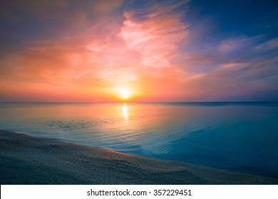 Early morning , sunrise over sea