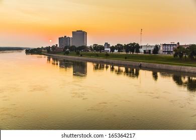 An early morning sunrise in Prince Albert, Saskatchewan, Canada