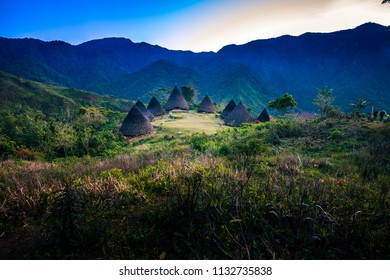 Early Morning Sunrise at Wae Rebo Traditional Village Indonesia Flores