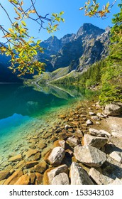 Early morning view of beautiful Morskie Oko lake in High Tatra Mountains, Poland