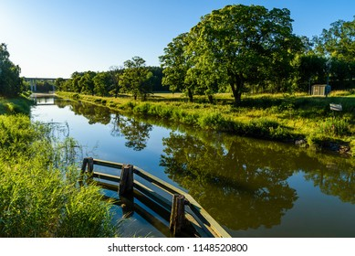 Early morning view of the Gota canal just east of Norsholm, Sweden.