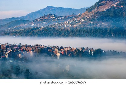 Early morning view of Khokana village at Kathmandu, Nepal.