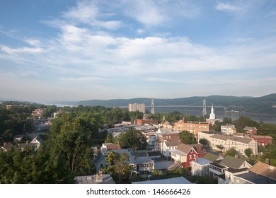 Early morning view of the Mid Hudson Bridge in Poughkeepsie, NY
