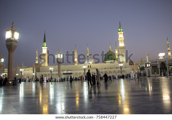 Early Morning View Prophet Muhammad Mosque Stock Photo (Edit