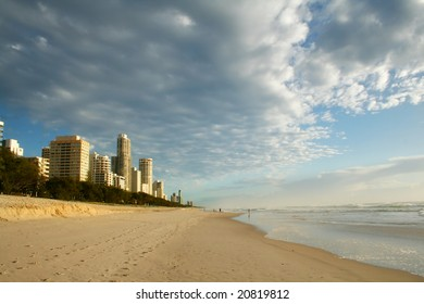 Early morning view of Surfers Paradise skyline on the Gold Coast Australia