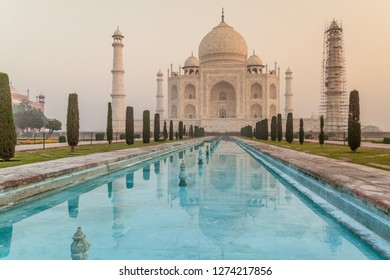 Early morning view of Taj Mahal in Agra, India