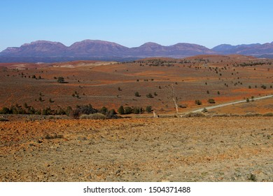 Early Morning View towards Wilpena Pound from the Stokes Hill Lookout