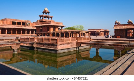 Early morning view of UNESCO World Heritage site Fatehpur Sikri, India.