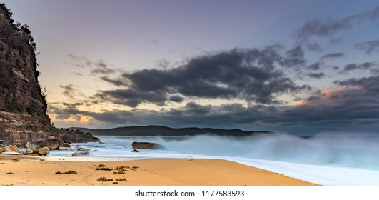 Early Morning Wild Seascape - Capturing the sunrise from North Pearl Beach on the Central Coast, NSW, Australia.