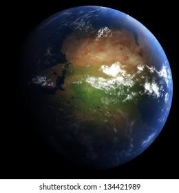 Early Permian Earth: 298.9 Million Years Ago