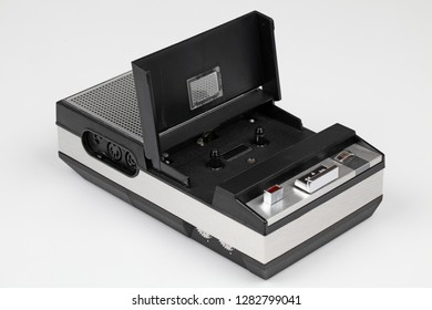 Early portable tape recorder, compact cassette, 1960's / 1970's.