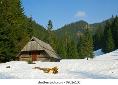 Early spring in Tatry mountains. Chocho?owksa valley. Poland. Near Zakopane city.