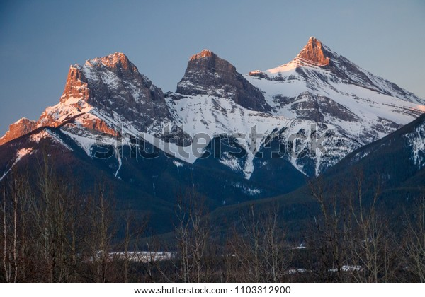 Early spring time in Canmore in Alberta, Canada
