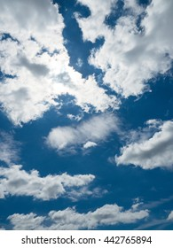 Early summer of blue sky and clouds
