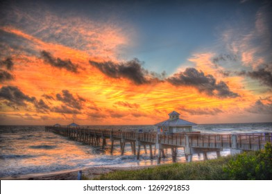 Early Sunrise Juno Pier Florida