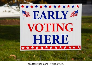 EARLY VOTING HERE Sign in USA