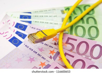 earn money in the web with lan cable and euro currency