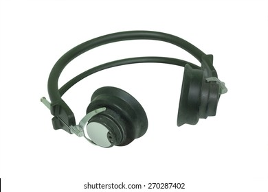 Earphones for hearing test. Pure-tone audiometry