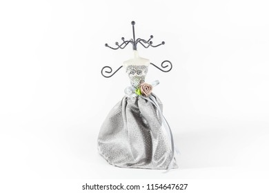 Earring hanger in a white isolated background
