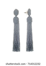 Earrings from beads silver