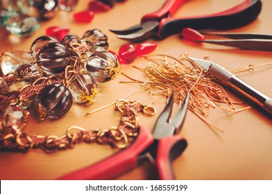 Earrings making process